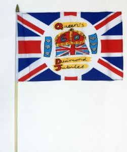 Queen's Diamond Jubilee Large Hand Flag, official design.
